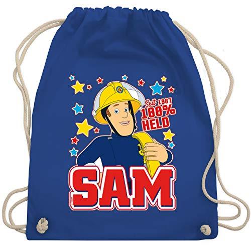 Feuerwehrmann Sam Tasche - Seit 1987-100% Held - Sam - Unisize - Royalblau - Schule - WM110 - Turnbeutel und Stoffbeutel aus Baumwolle