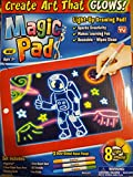 Ontel Bonus Magic Pad Deluxe Light Up LED Drawing Tablet with Extras -...