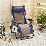 AmazonBasics Padded Zero Gravity Chair- (Blue, Iron)