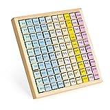 Navaris Tabla de sumas para niños - Juego de aprendizaje de tablas para sumar para niños de primaria +3 años - Juguete montessori de matemáticas