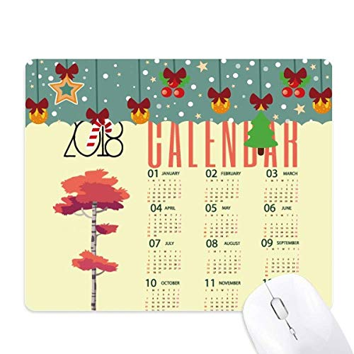 2018 Cartoon stijl kalender patroon muismat spel Office Mat Kerstmis Rubber Pad