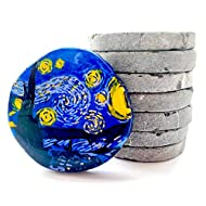 Capcouriers Flat Rocks for Painting - Natural Rock Canvases - Flat Painting Rocks - 7 Extremely Smooth Rock Canvases - Double Sided Painting Canvases - 2 inches in Length