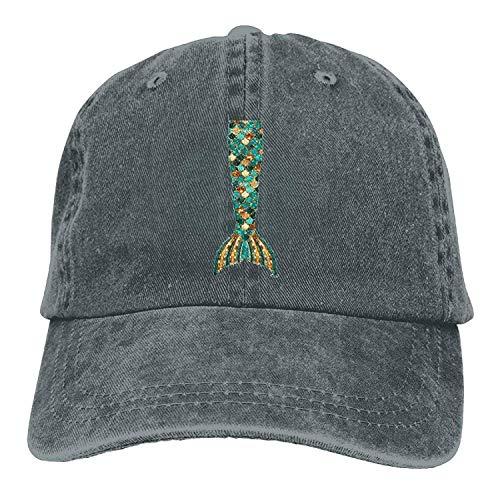 Voxpkrs Casquettes de Baseball Queue de sirène personnalisées Vintage Chapeaux ajustés Taille personnalisée pour Les garçons Adolescents DV2144