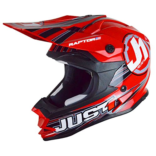 Just 1 Helmets J32 Raptor Casco Band YS rosso