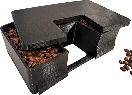 Bohnenbehälter Erweiterung für 400 gr mehr Bohnenkapazität passend für DeLonghi Magnifica S Kaffeeevollautomaten