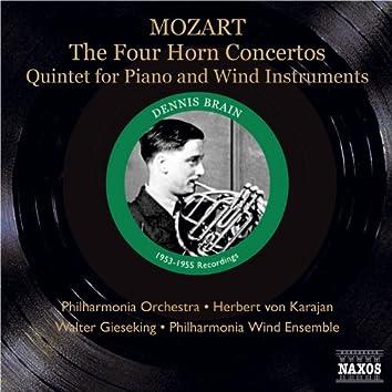 Mozart: Horn Concertos Nos. 1-4 / Piano and Wind Quintet (Brain, Karajan, Gieseking) (1953, 1955)