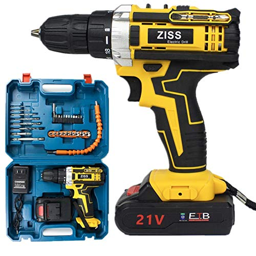 21V Electric Drill Cordless Electric Screwdriver Drill Set 30pcs with Battery GWU10