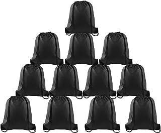 FEPITO 12-22 Pack Drawstring Backpack Bags String Backpack Bulk Tote Sack Cinch Bag Sport Bags for School Gym Traveling