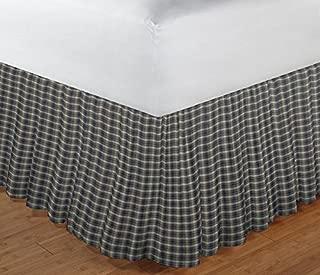 Patch Magic Blue Black Plaid Fabric Dust Ruffle, King