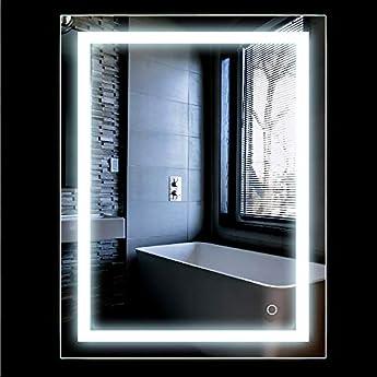 Foto di Specchio Luce LED con Illuminazione Interruttore per il Bagno Camera da Letto 2 Dimensioni (500x700mm)