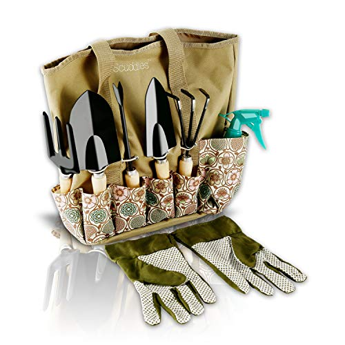 Scuddles Garden Tools Set - 8 Piece Heavy Duty Gardening tools...