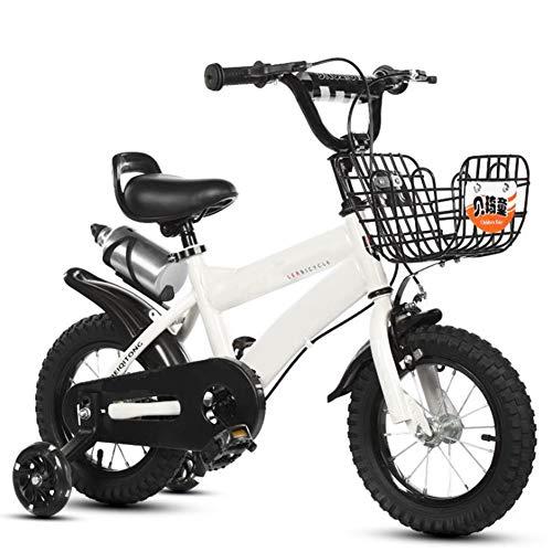 Archer kinderfiets kinderen en meisjes voor kinderen van 3-6 jaar, fiets, sportfietsmand met led-flitslicht