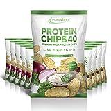 IronMaxx Protein Chips 40, 50 g Beutel (Sour Cream & Onion)