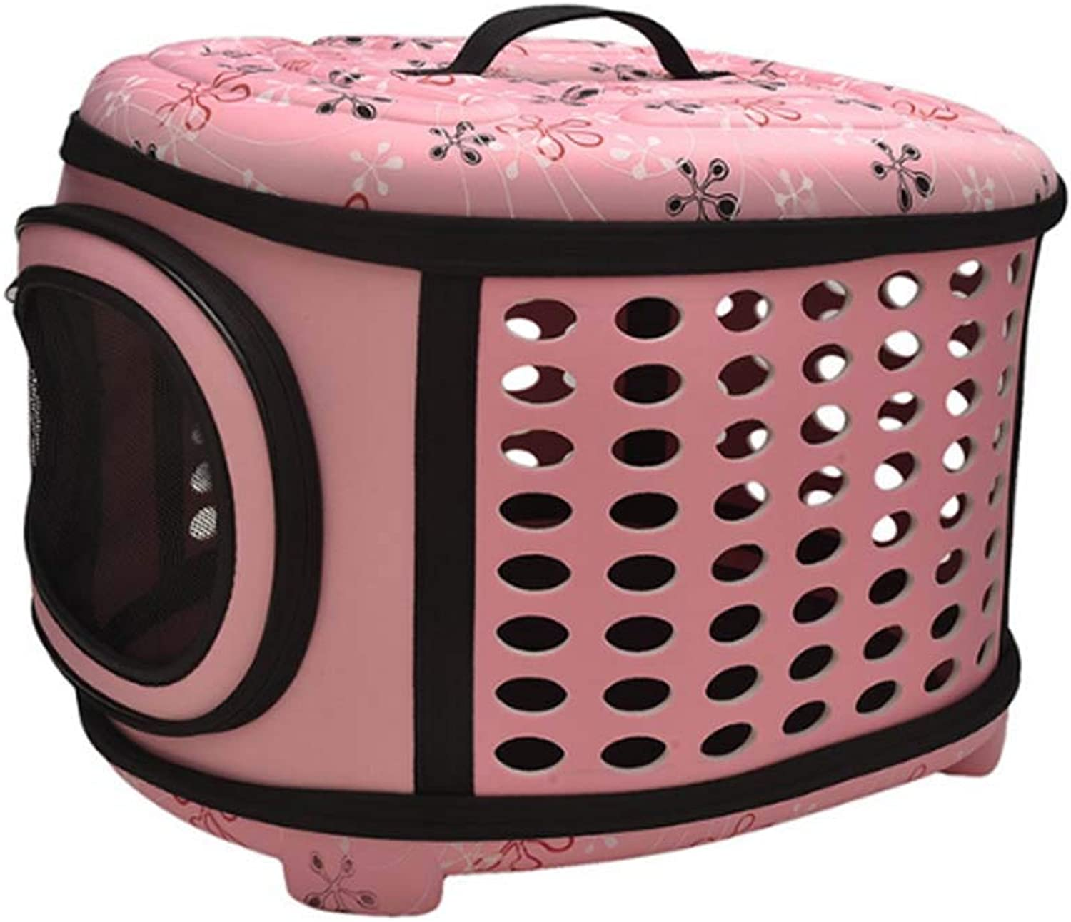 44 X 38X32 cm Large Pet Carrier EVA, SoftSided Pet Carrier, Cat Carrier,Ferret Carrier,Bunny Carrier for Small Pet Only,Pink