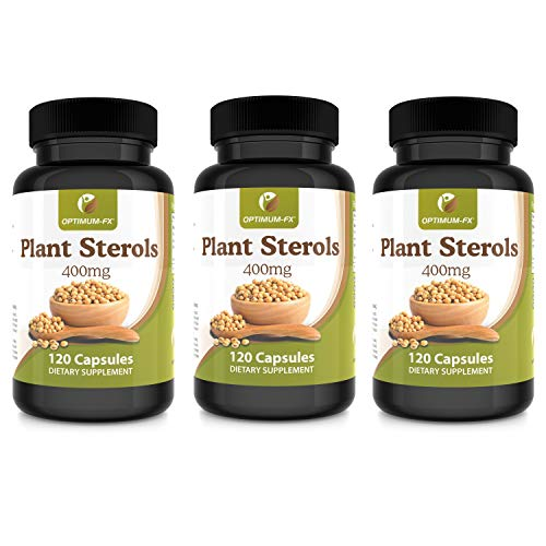 Plant Sterols 400mg Capsules High Strength Supplement – NOT Tablets or Powder – Contributes to Normal Blood Cholesterol 120 Vegan Caps 2 Months' Supply