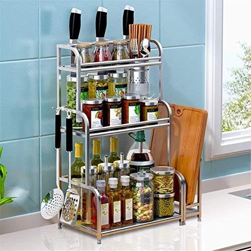Nfudishpu 3Tier Küchenschrank Spice Rack Organizer, Stehregal Küchenarbeitsplatte Speicherorganisator Regalhalter