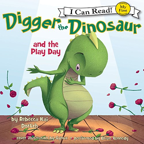 Digger the Dinosaur and the Play Day audiobook cover art