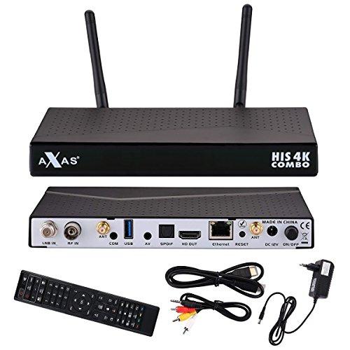 axas His 4K Combo 1X DVB-S2/1X DVB-C/T24K UHD H.265HEVC E2Linux ricevitore satellitare