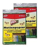 Preisjubel 40 x Reinex Mottenpapier, Mottenfalle, Teppichkäfer, Textil-Motte, Teppichkäfer