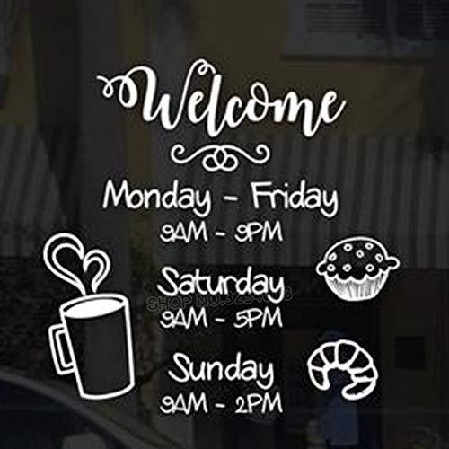 mgrlhm Benutzerdefinierte Ladenöffnungszeiten und Öffnungszeiten für Ihr Café Restaurant Tags Schaufenster Fensterladen Willkommensschild 30x30cm