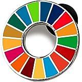 SDGs バッジ(1個) ピンバッチ バッヂ 高級 SDGs ピンバッジ 2020 珐琅彩 最新仕様 国連本部限定販売 ピンバッジの留め具 銀色2個 人気 おしゃれ ギフト