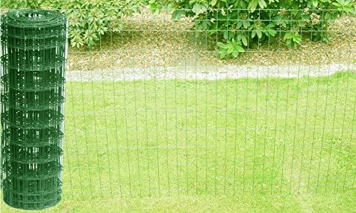 Schweißgitterzaun als Gartenzaun Wildzaun Gitterzaun in grün RAL 6005 1,0 m - 1,5 m hoch Zaungitter Zaundraht Gitterdraht Drahtgitter Maschenzaun (1,0 m hoch 10 m lang)