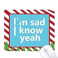 悲しい歌詞 ゴムクリスマスキャンディマウスパッド