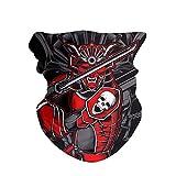 HAOZI Lot de 2 bandeaux et foulards magiques pour homme avec bandeau multifonctionnel et résistant aux UV, Tête de mort samouraï japonaise, 50 CM x 25 CM