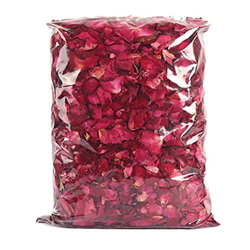 吹きさらしランプ全国ACAMPTAR 乾燥したバラの花びら、赤いバラの花びら、シャワーやフットバスとウェディングに最適、カラフルな工芸品、アクセサリー、1パック