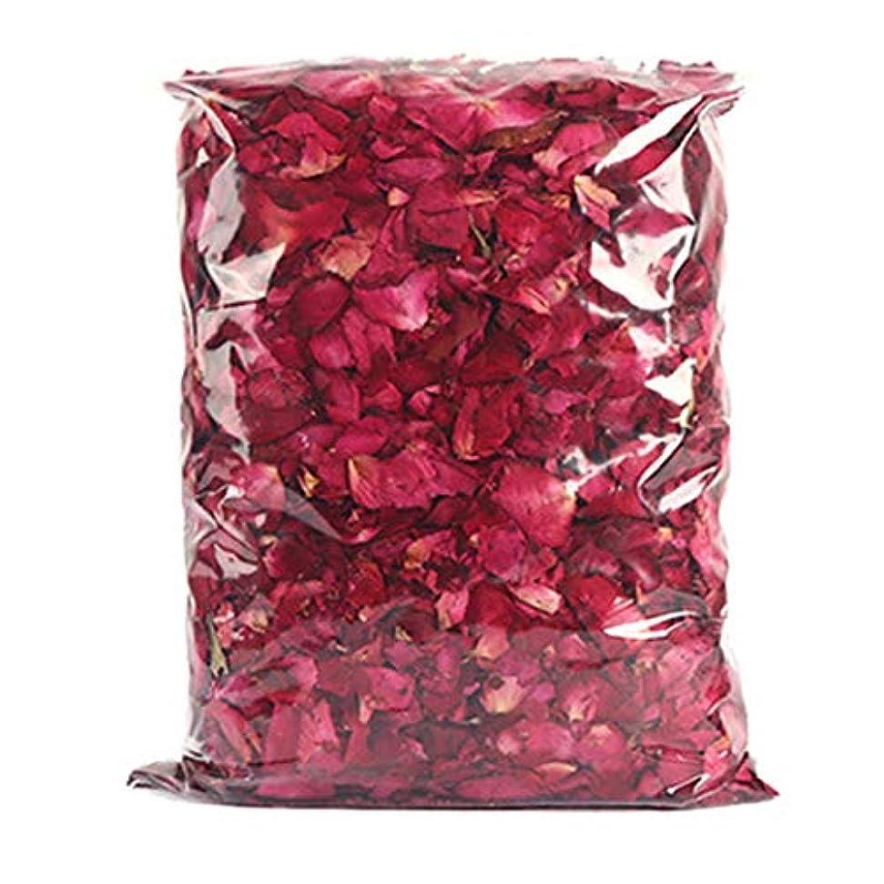 どんよりした幸福不毛SODIAL 乾燥したバラの花びら、赤いバラの花びら、シャワーやフットバスとウェディングに最適、カラフルな工芸品、アクセサリー、1パック