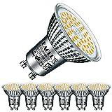 EACLL Bombillas LED GU10 Blanco Cálido 10W Reemplaza 80W Halógena, Pack de 6, Focos Sin Parpadeo AC 230V, 3000K 1050 Lúmenes 120 ° Spotlight, Lámpara Reflectora no Regulable