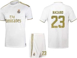 Toutes Les Tailles Hommes Gar/çons Maillot Dentra/înement Sportif Eden Hazard Chelsea Adultes Licence Officielle Enfants Saison 2018-2019 Blanc Real Madrid 7 Maillot De Football T-shirt