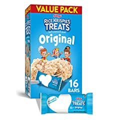 A classic sweet treat for any occasion; Pack a square for school lunches, afternoon snacks, and late-night bites With puffed, oven-toasted rice cereal and the flavor of soft marshmallows; No high-fructose corn syrup; Ingredients contain milk and soy ...