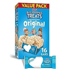 Kellogg's Rice Krispies Treats, Crispy Marshmallow Squares, Original, Value Pack, 12.4oz Box (16 Cou