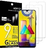 NEW'C 3 Unidades, Protector de Pantalla para Samsung Galaxy M21, Galaxy M31, Antiarañazos, Antihuellas, Sin Burbujas, Dureza 9H, 0.33 mm Ultra Transparente, Vidrio Templado Ultra Resistente