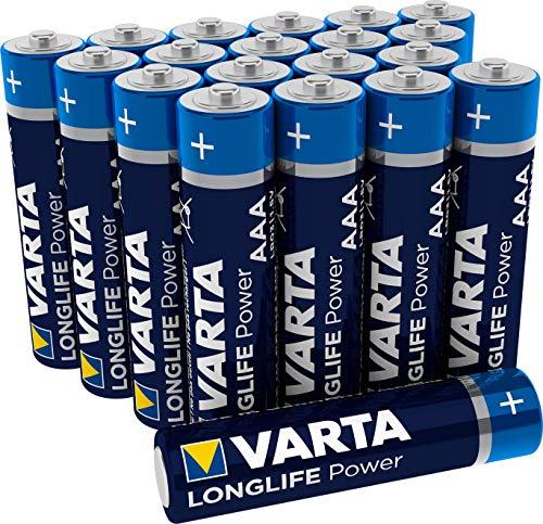 Varta Longlife Power AAA Micro LR03 Batterie (20er Pack) Alkaline Batterie - Made in Germany - ideal für Spielzeug Taschenlampe Controller und andere batteriebetriebene Geräte