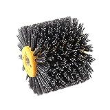 Disco De Alambre Para Amoladora,Cepillo Alambre Rueda de pulido de tambor de alambre abrasivo de nylon Cepillo eléctrico Cepillo eléctrico Desgaste para la carpintería Transporte de metalería Esmerila