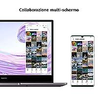 HUAWEI MateBook D 14 Laptop, Full View 1080P FHD Ultrabook PC Portatile, Intel Core i5-10210U, RAM 8GB, SSD da 256GB, Sensore Impronte Digitali, Windows 10 Home, HUAWEI Share, Layout Italiano, Gray #6