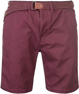 ce42172e9a496 Pierre Cardin Hommes 100% Coton Classique Tressé Ceinture Chino Shorts