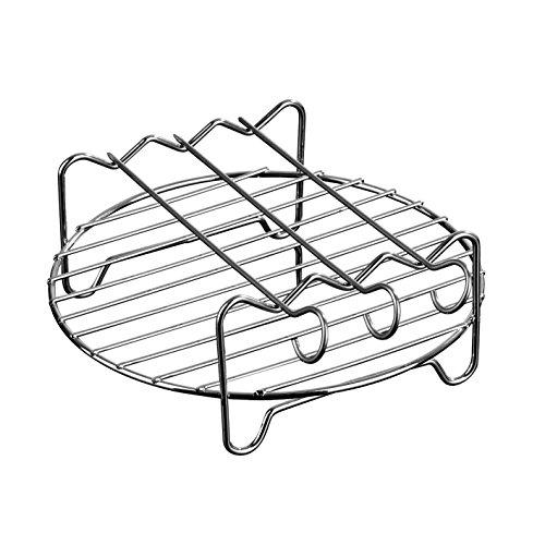 GOURMETmaxx Grillrost Edelstahl für die Heißluft-Fritteuse 2,6 l