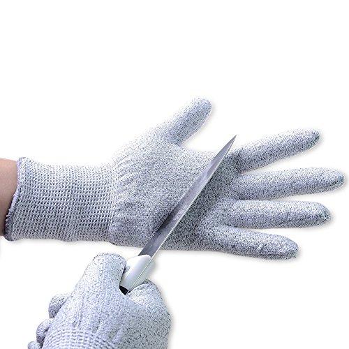 Aituo 1 paio di guanti da cucina resistenti al taglio, protezione livello 5, qualità alimentare, certificazione EN 388