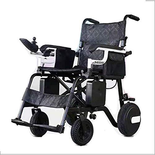 MOKY Elektro-Rollstuhl, intelligente automatische Aluminiumlegierung-Faltbare Elektro-Rollstuhl, linken und rechten Antriebsräder für Behinderte Ältere
