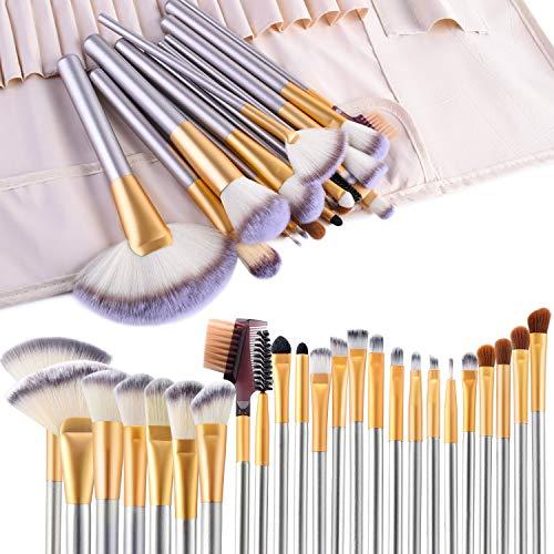 Makeup Brushes - 24 pcs Professional Makeup Brush Set with Case. Makeup Brushes for Professional and Personal Use. Variety of Eyeshadow Brushes, Foundation Brush, Lip Brush and Face Brushes.