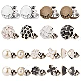 ZLMCUJE 18 Sets Assorted Perfect Fit Instant Buttons,No Sew Button Pins,Replacement Button Instant,No Tool,Removable and Reusable,for Jeans Shirt Sweater Coat Pants and Other Kinds of Clothes