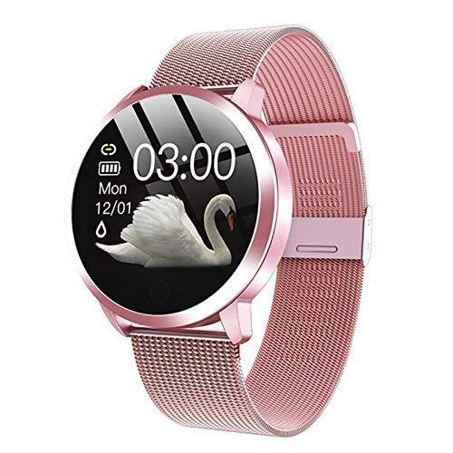 LJMG Smart Watch Nuevo Q8 Q9 Productos electrónicos, Deportes Impermeables para Hombres y Mujeres, rastreador, Pulsera de Fitness, Dispositivo Inteligente de Relojes para Android iOS,B