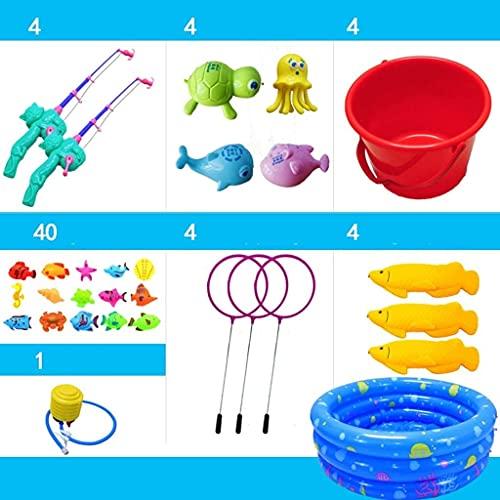 OYY Manufacture Piscinas hinchables Juguetes de Pesca para niños, bañera de bebé Piscina Fondo Fondo Fondo Fondo de Dibujos Animados Inducción magnética Peces Brillantes (Color : 80cm-60pcs)