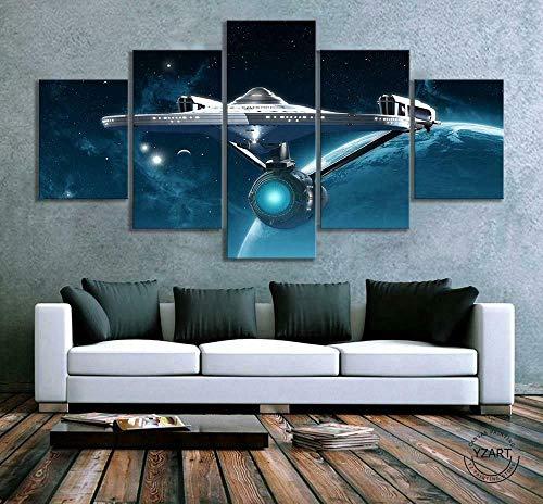 SESHA Star Trekair Spacecraft Band Películas de 5 Piezas, Lienzo de TV Arte de Pared