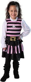 Making Believe Girls Pink & Black Stripes Pirate Mate Costume Dress (Choose Size)