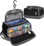 Bago Dopp Kit For Men - Shaving Kit Bags for Men - Shower Toiletry Travel Bag - Hanging Hook   Inner Organization   Mens Dopp Kit for Bathroom (Black)