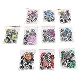 Ojos de seguridad Ojos de muñeca artesanales con accesorios de arandelas brillantes de colores para manualidades Juguete de ganchillo y animales de peluche(24mm)